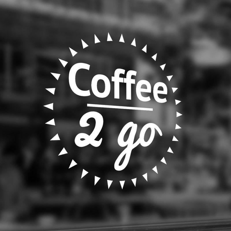 Coffee 2 go Aufkleber