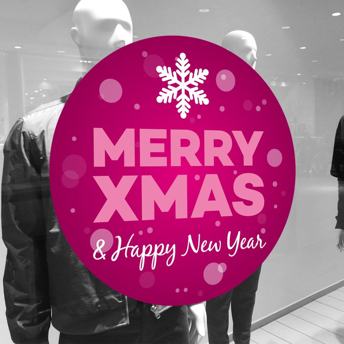 Merry xmas folie daf 001 schaufensterfolien mehr - Fensterfolie weihnachten ...
