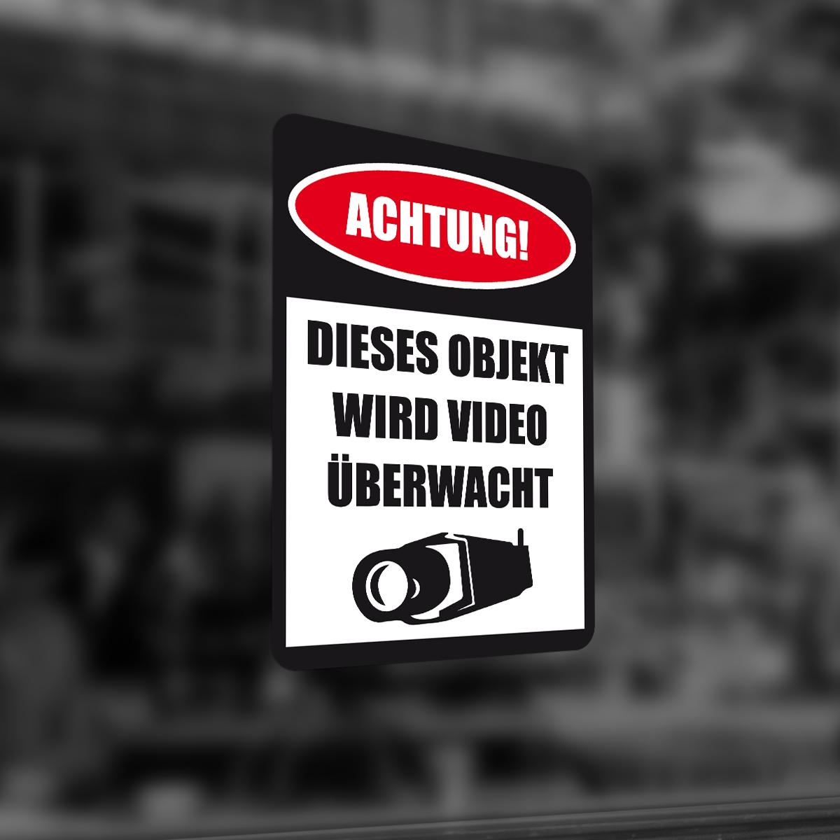 Videoüberwacht Aufkleber Vu 015