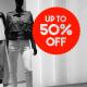 sale aufkleber up to 50%
